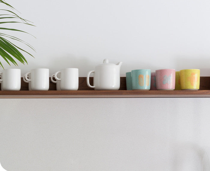 Glazed Porcelain Cups by Inesse