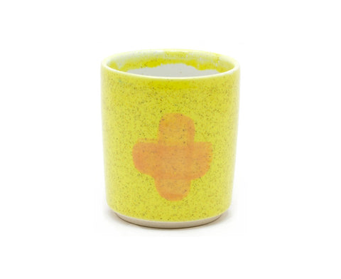 Glazed Porcelain Cup in lemon by Inesse