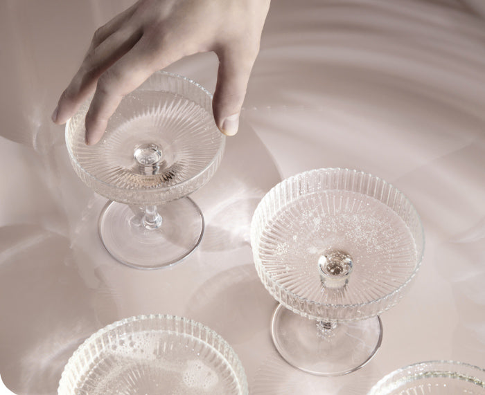 Ripple Champagne Coupes by Ferm Living