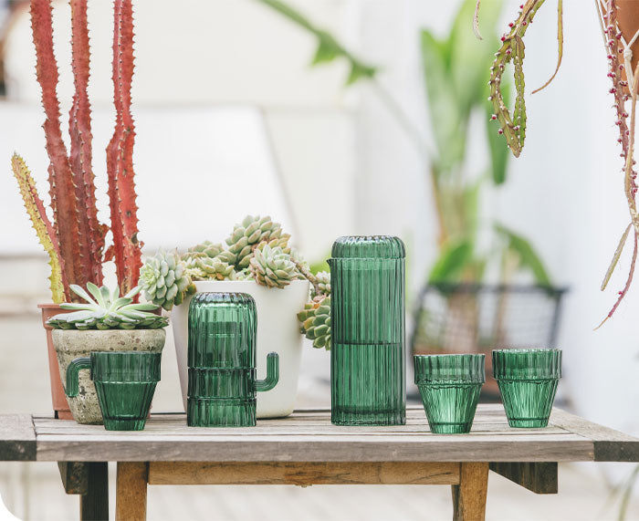 Saguaro Stackable Glasses by DOIY