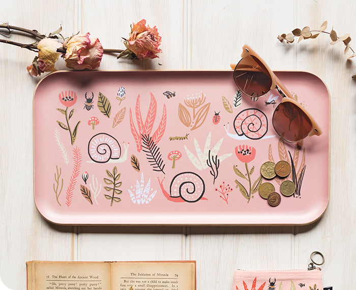 Small World Willow Wood Tray by Danica Studio