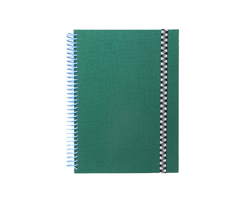 A5 Spiral Notebook in Green and Blue by Papier Tigre