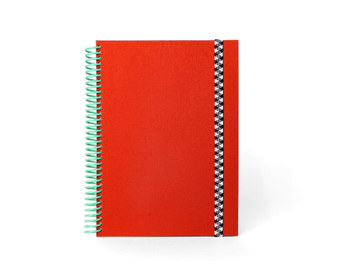 Spiral Notebook in Red and Mint by Papier Tigre