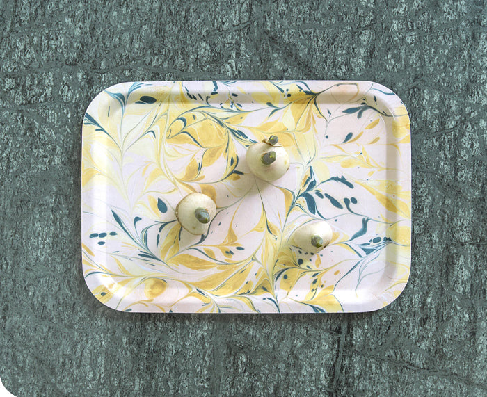 Yellow Swirl Small Tray by Studio Formata