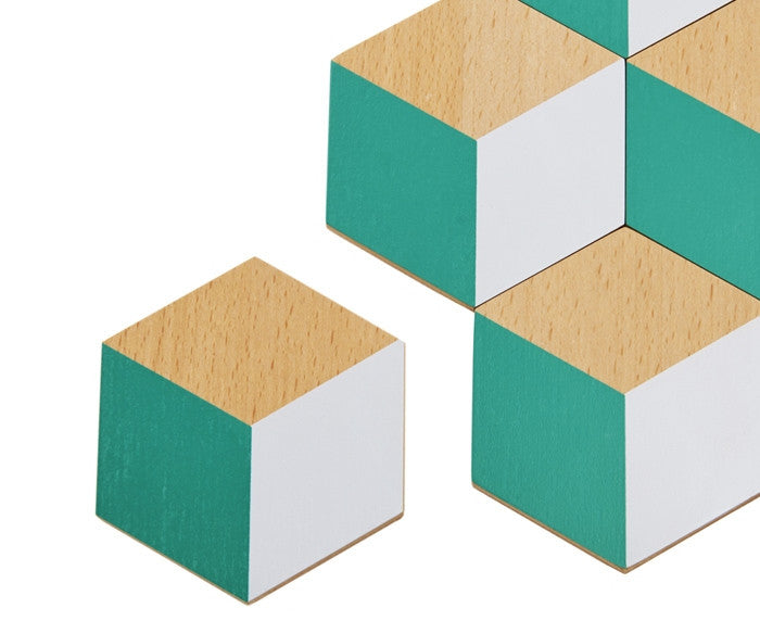 Table Tiles Coasters by Areaware - available in four colors