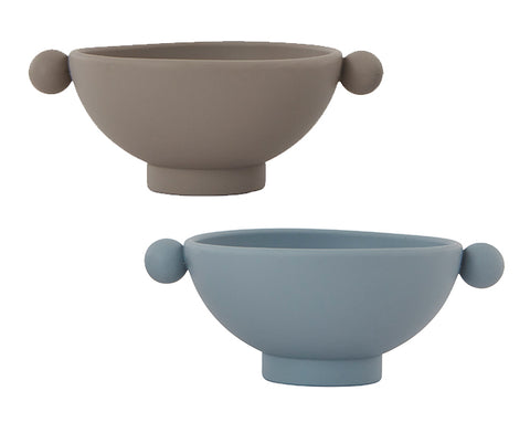 Tiny Inka Set of Bowls in Blue and Clay by Oyoy Living Design