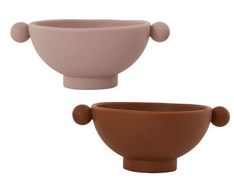 Tiny Inka Set of Bowls in Rose and Caramel by Oyoy Living Design