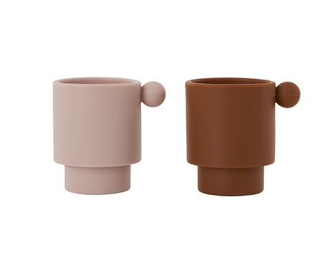 Tiny Inka Set of Cups in Rose and Caramel by Oyoy Living Design