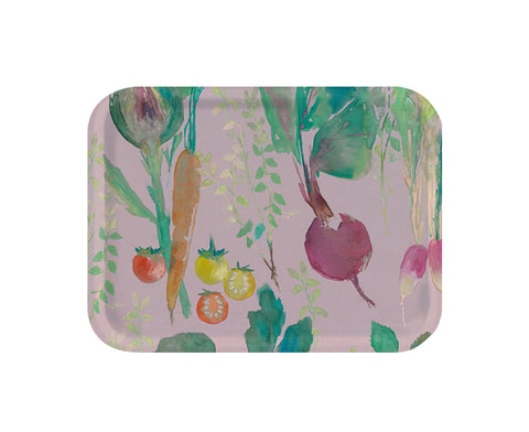 Vegetable Patch Small Tray in Rosehip by Bluebellgray
