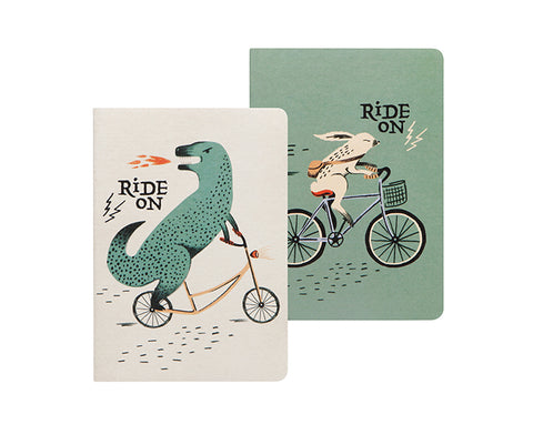 Wild Riders Set of Two Notebooks by Danica Studio