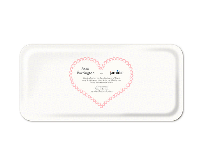 Word Rectangular Tray - Gin - by Jamida