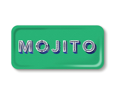 Word Rectangular Tray - Mojito - by Jamida