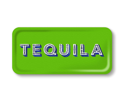 Word Rectangular Tray - Tequila - by Jamida