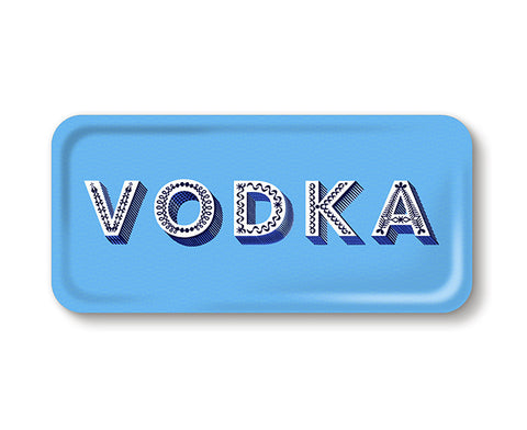 Word Rectangular Tray - Vodka - by Jamida