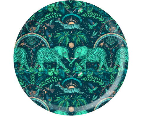 Zambezi Round Tray in Teal by Jamida
