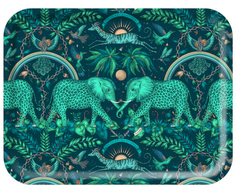 Zambezi Rectangular Tray in Teal by Jamida