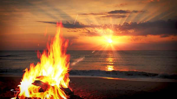 Campfire & Ocean Waves MP3