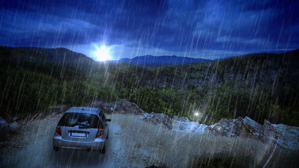 Rain on a car is a peaceful white noise sound that can help with sleep or concentration.