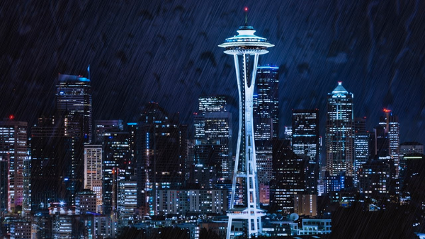 Seattle Rain & City Sounds White Noise MP3