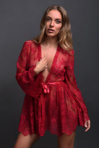 Rose Pink Robe sexy lingerie