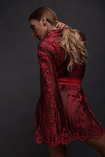 Load image into Gallery viewer, Ruby Pink Lace Robe USA