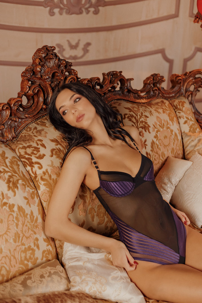 Bodysuit Purple Rose