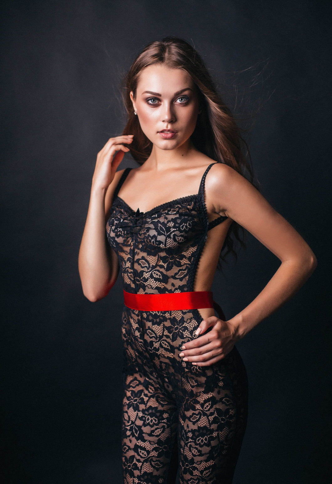 Elizabeth Black Lace Bodysuit USA