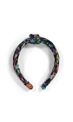 Knotted Headband (Velvet Dot)