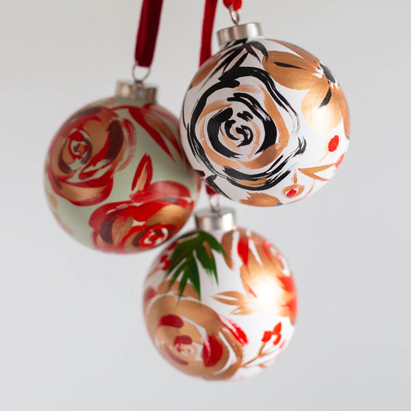 Hand-Painted Ornaments - Set of All 3
