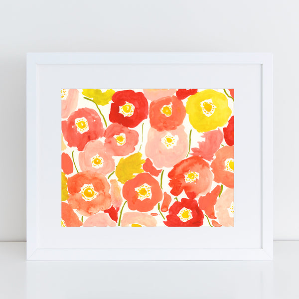 Abstract Poppies - Fine Art Print