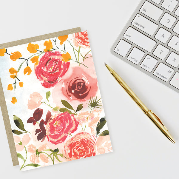 Watercolor Florals Notecard Set