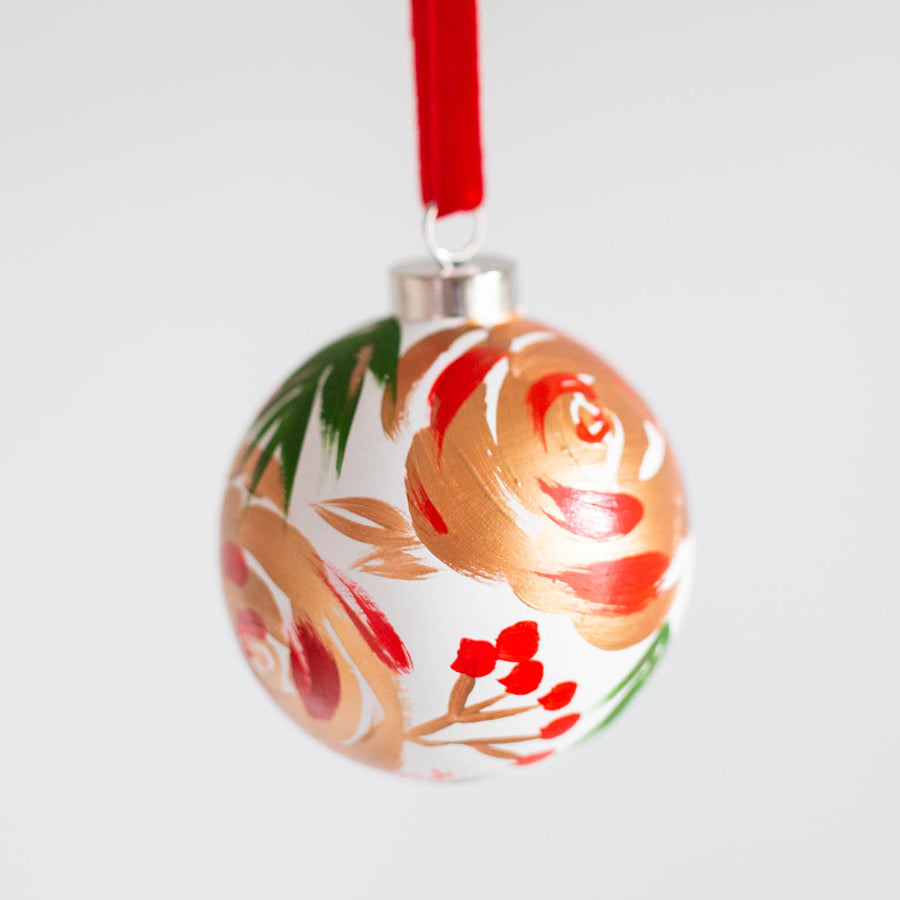 Hand-Painted Ornament - Festive Forest