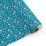 Festive Forest Gift Wrap - Blue