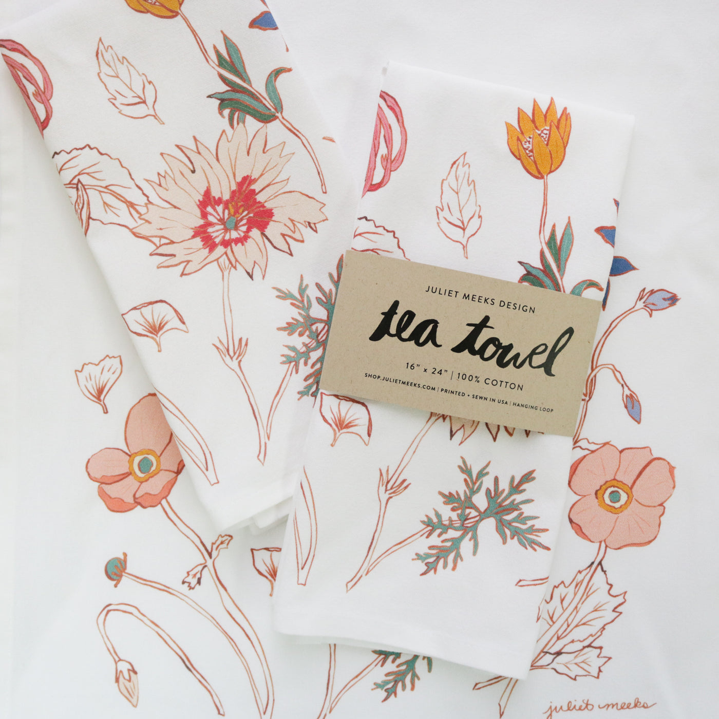 Botanical Study Tea Towel