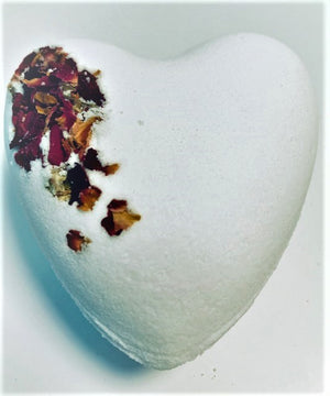 Romantic Rose Heart Shaped Bath Bomb 9oz