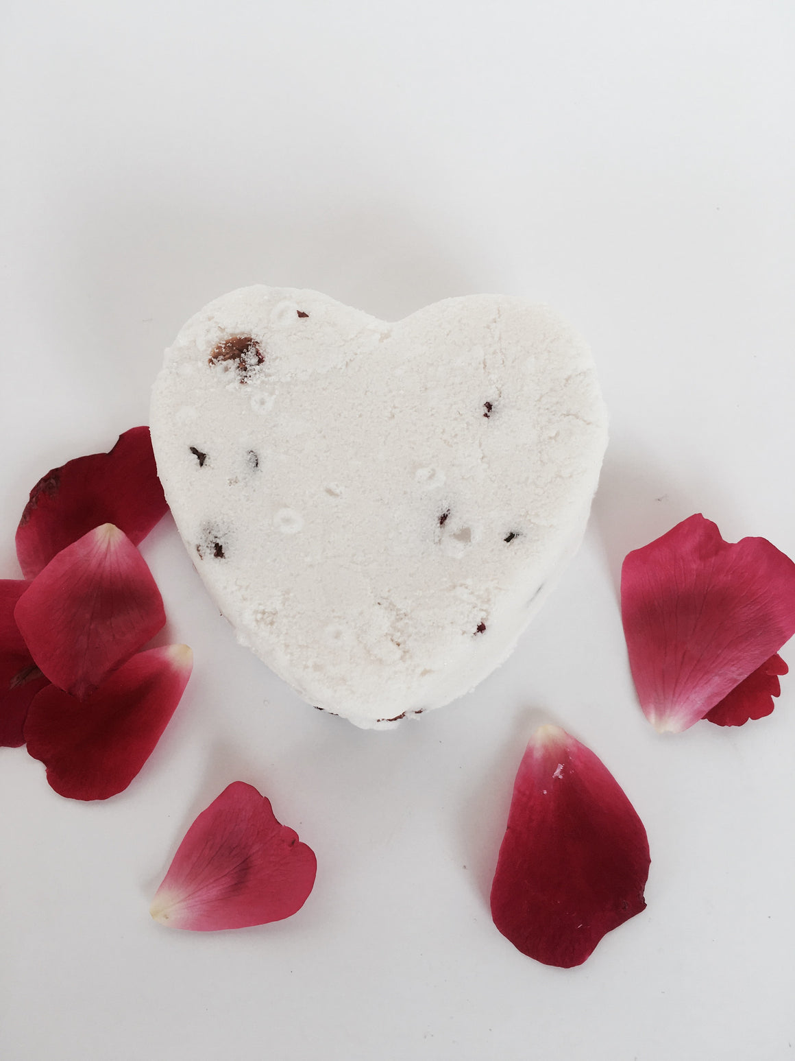 Romantic Rose Small Heart shaped Bath Bomb