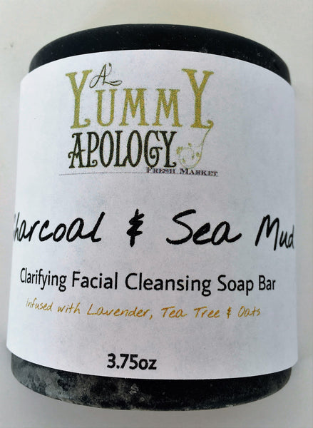 Charcoal and Sea Mud Deep Cleansing Facial Bar