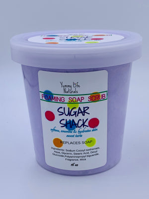 Sugar Shack Foaming Sugar Soap Scrub