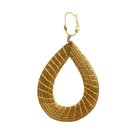 Golden Grass Drop Earrings