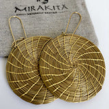 Golden Grass Mandala Earrings