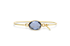 Gold Light Amethyst Freeform Bracelet
