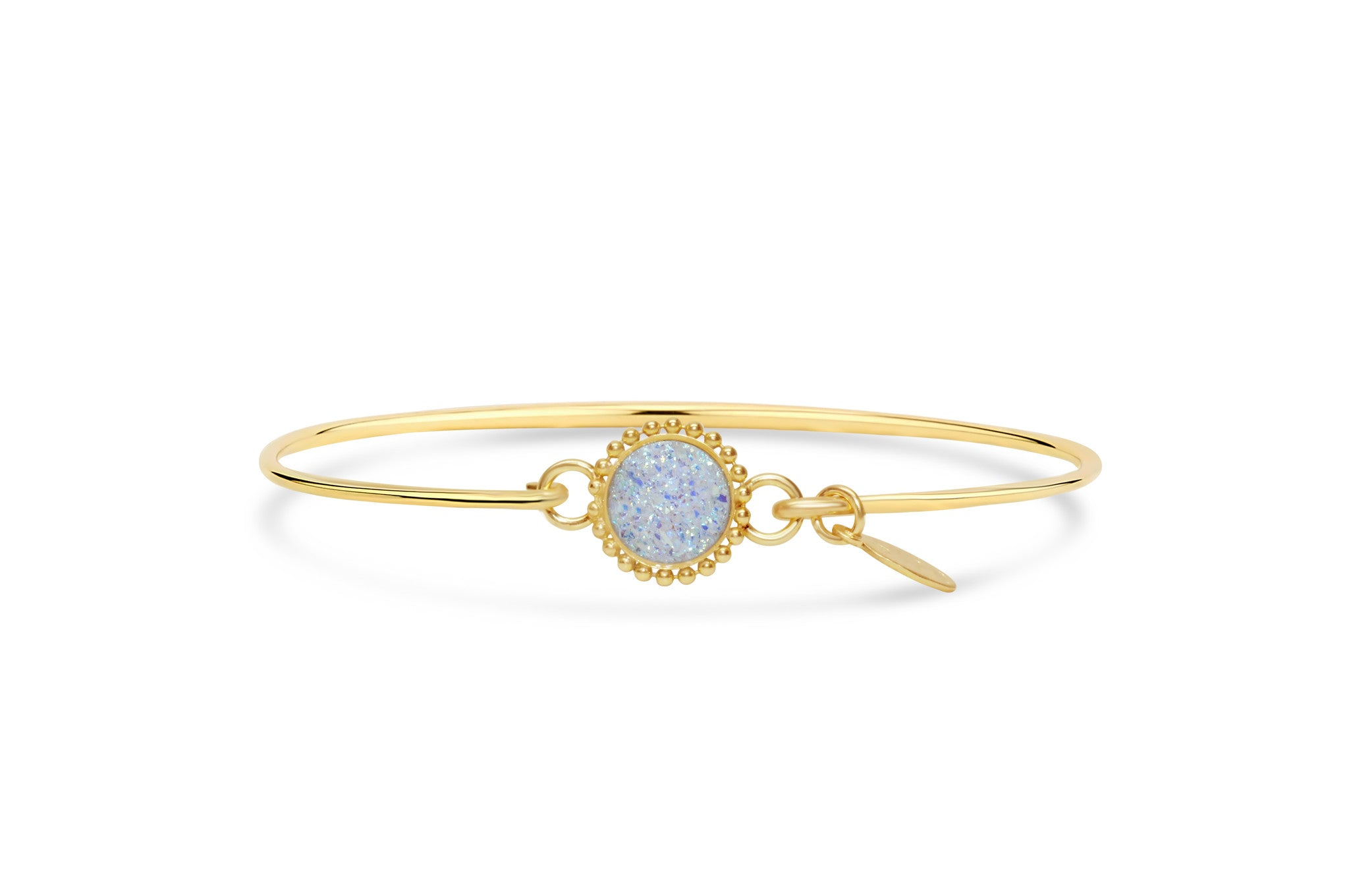 Gold Opal Mini Beaded Druzy Bracelet