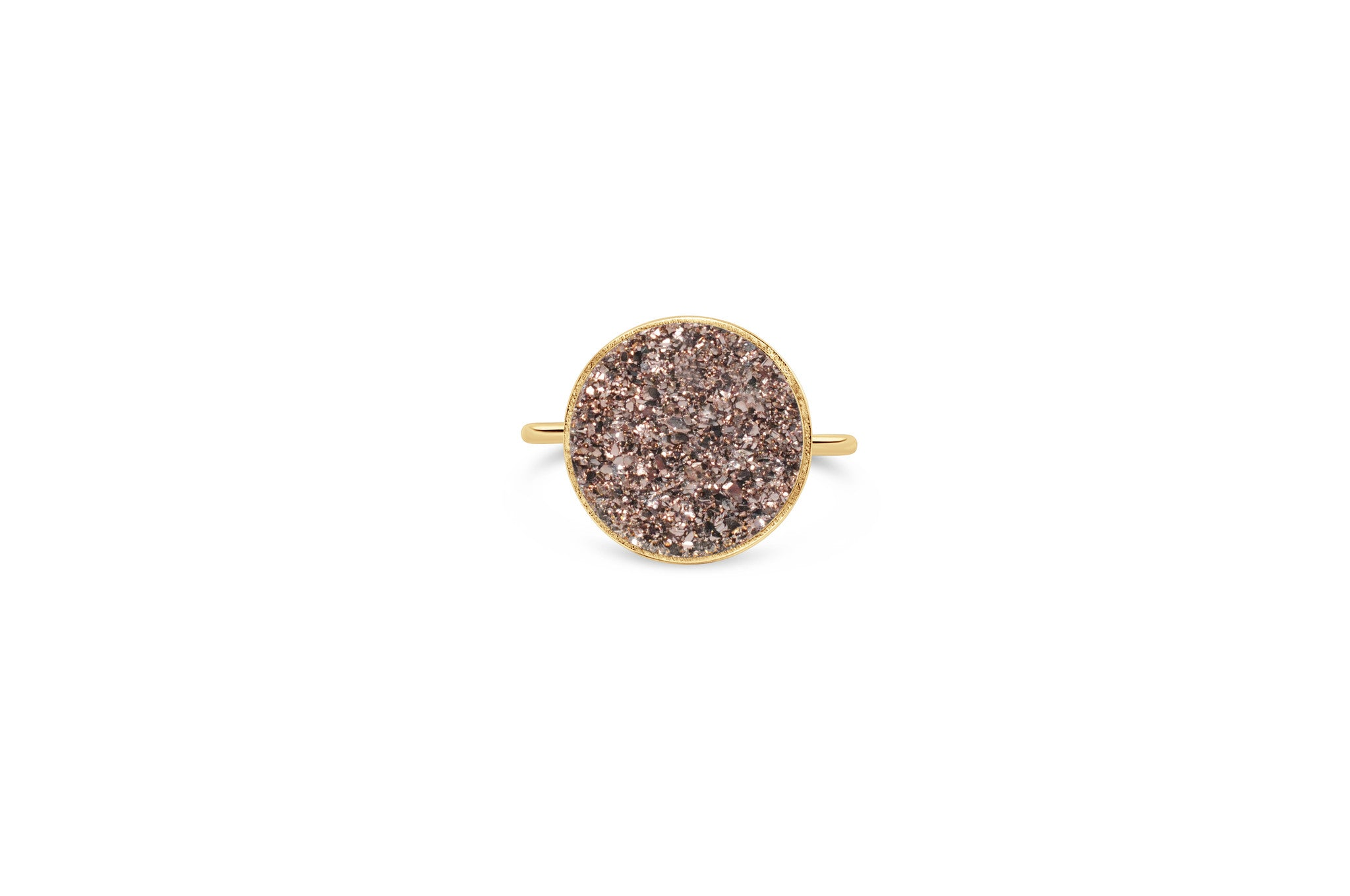 Gold Rose Druzy Infinity Edge It Fits Ring