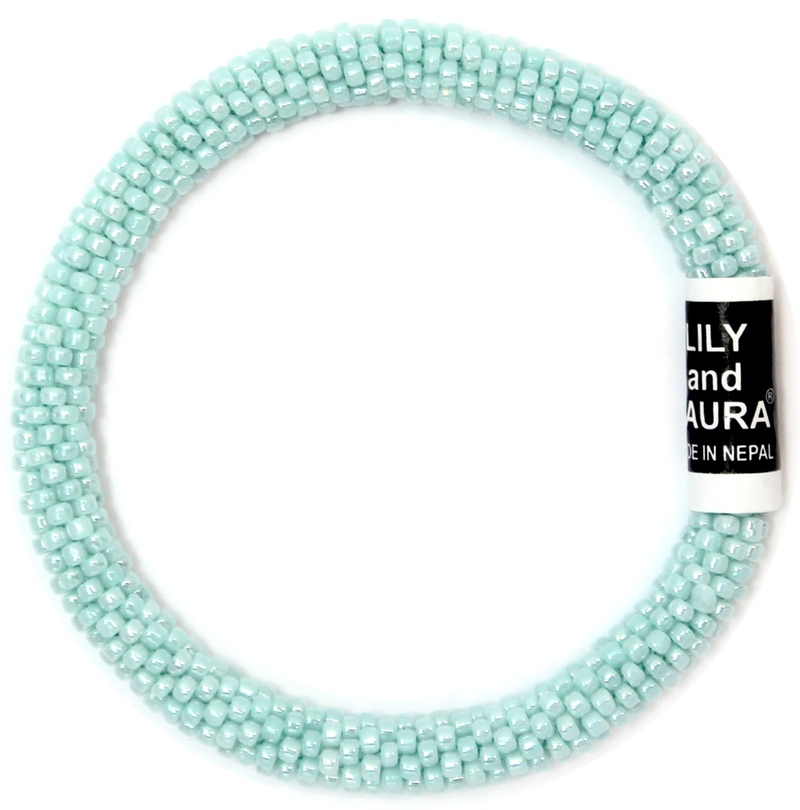 Lily and Laura Blue Mint Solid Bracelet