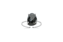 Sterling Silver Pyrite Freeform It Fits Ring
