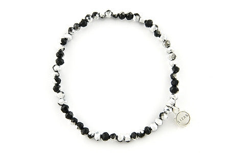 Knoxville Silver Black Metallic Bracelet