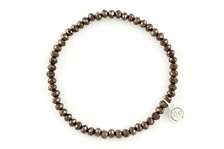 Knoxville Dark Brown Metallic Bracelet