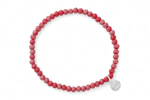 Knoxville Frosted Red Bracelet