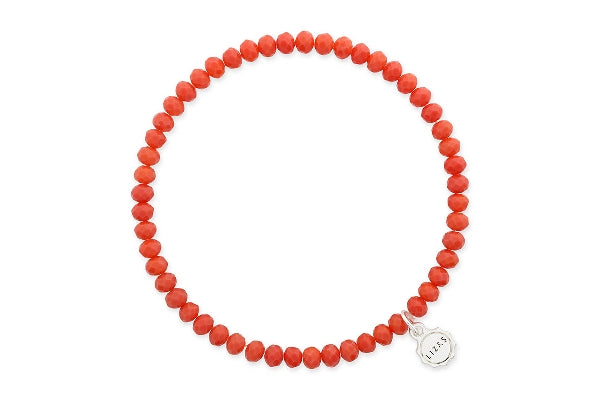 Knoxville Warm Red Coral Bracelet