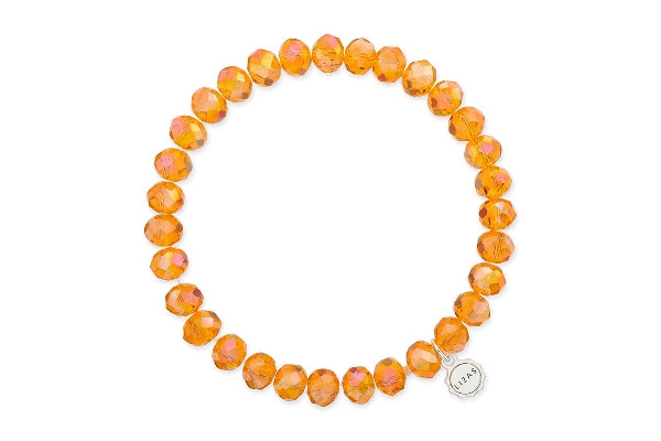 Clarksville Orange Crystal Bracelet